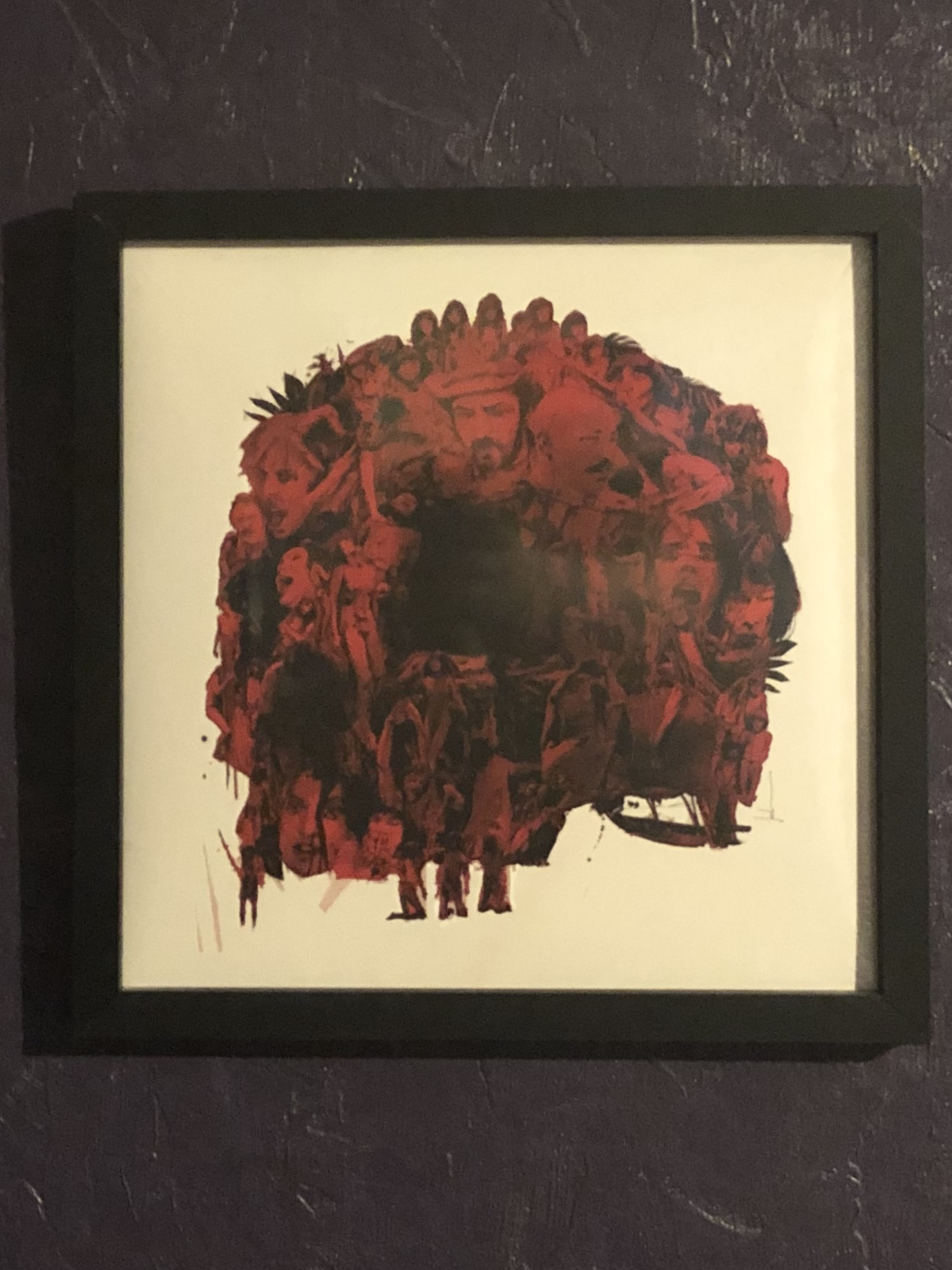 Jock art for Cannibal Holocaust soundtrack